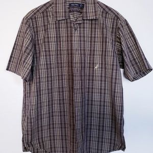 Mens Nautica Camp Shirt